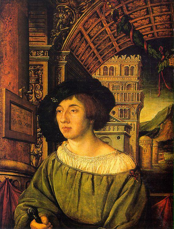 Ambrosius Holbein Portrait of a Young Man oil painting image