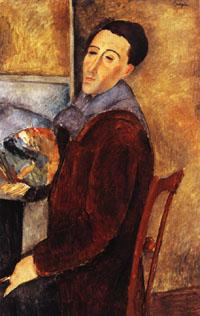Amedeo Modigliani self portrait oil painting image