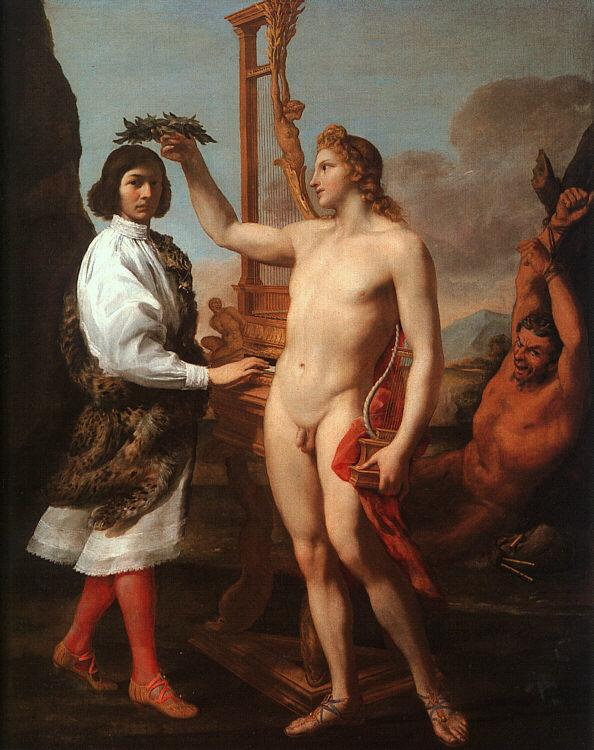 Andrea Sacchi Marcantonio Pasquilini Crowned by Apollo oil painting image
