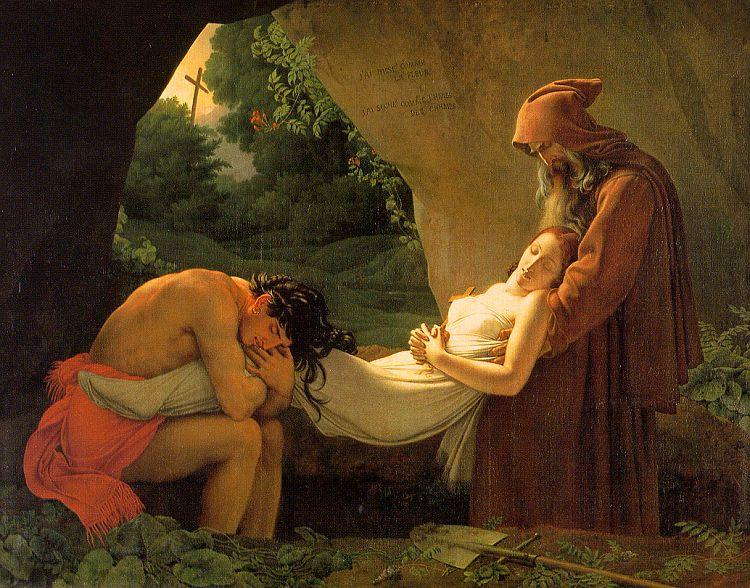 Anne-Louis Girodet-Trioson The Burial of Atala oil painting image