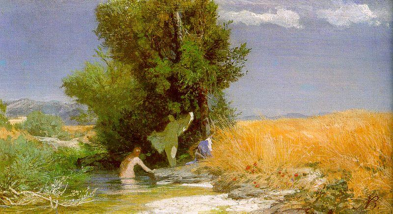 Arnold Bocklin Nymphs Bathing oil painting image