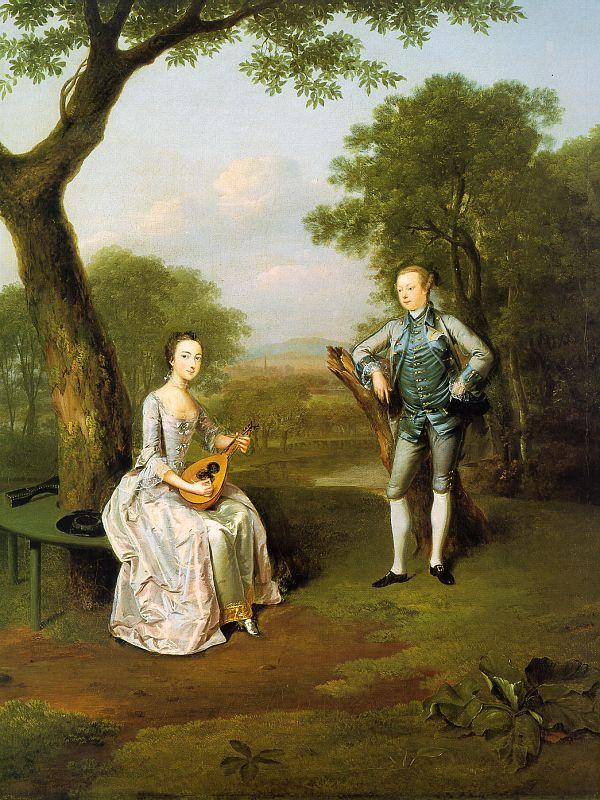 Arthur Devis Sir Nathaniel and Lady Caroline Curzon oil painting image