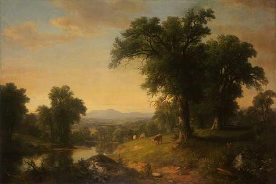 Asher Brown Durand A Pastoral Scene Germany oil painting art
