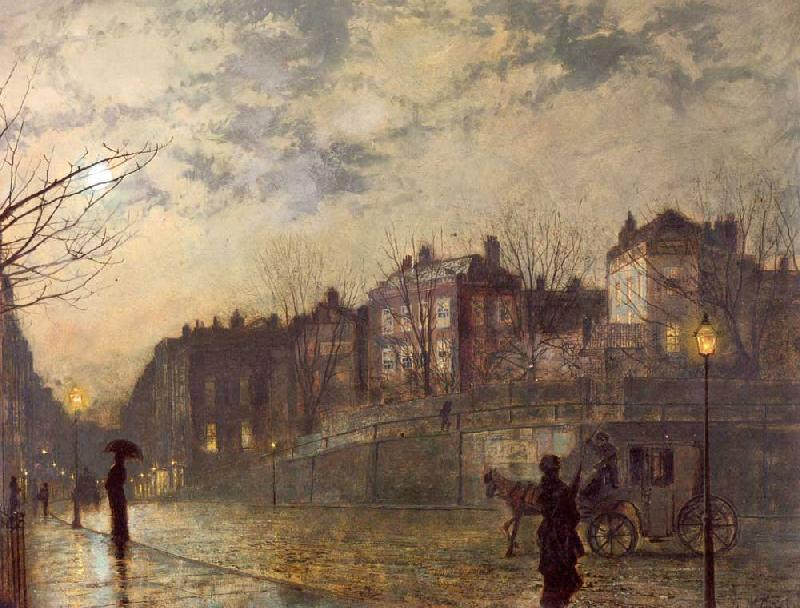 Atkinson Grimshaw Hampstead oil painting image