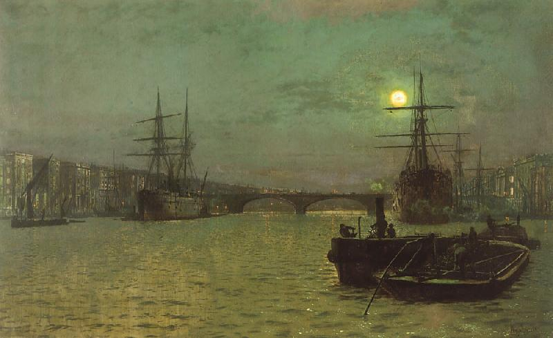 Atkinson Grimshaw London Bridge, Half Tide oil painting image