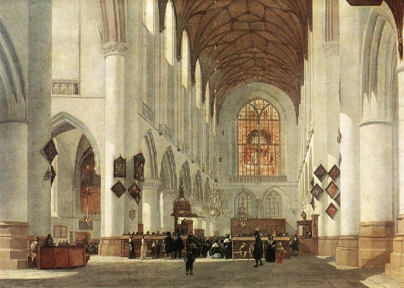 BERCKHEYDE, Job Adriaensz Interior of the St Bavo Church at Haarlem fs oil painting image