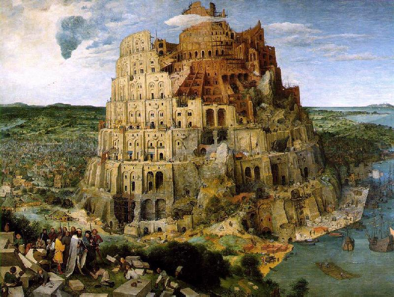 BRUEGEL, Pieter the Elder The Tower of Babel f oil painting image