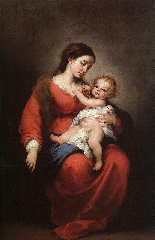 Bartolome Esteban Murillo Virgin and Child Germany oil painting art