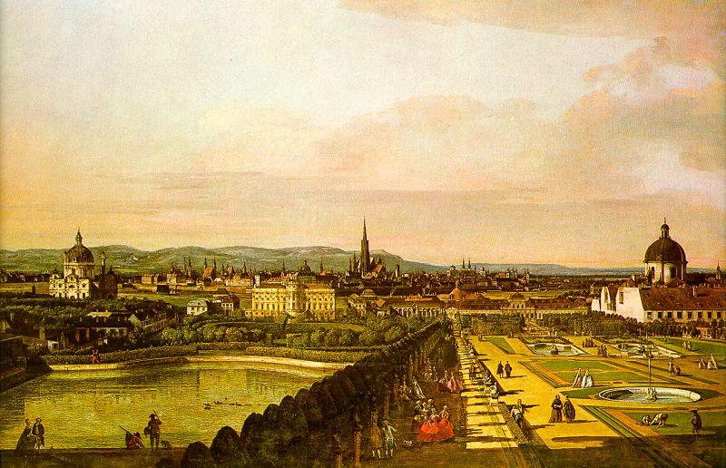 Bernardo Berlotto View of Vienna from the Belvedere oil painting image
