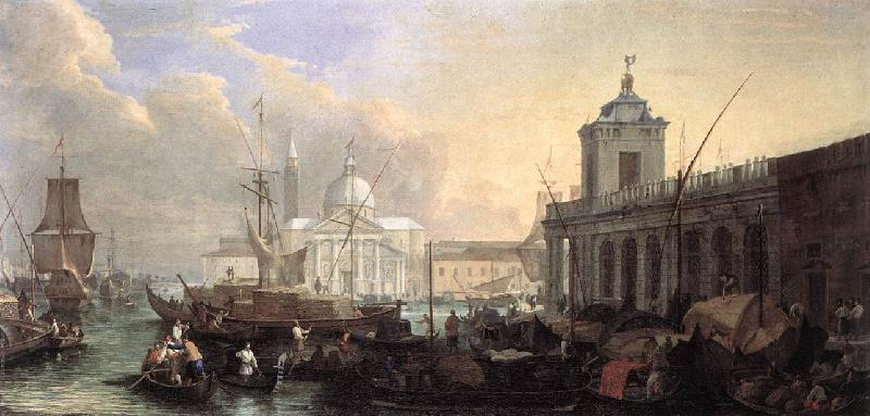 CARLEVARIS, Luca The Sea Custom House with San Giorgio Maggiore fdg oil painting image