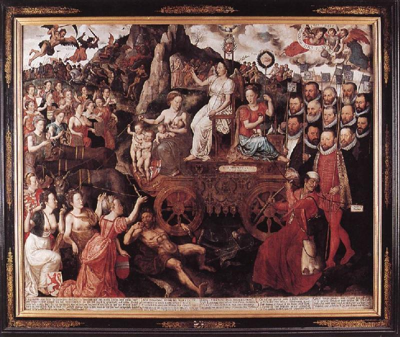 CLAEISSENS, Pieter the Younger Allegory of the 1577 Peace in the Low Countries dfg oil painting image