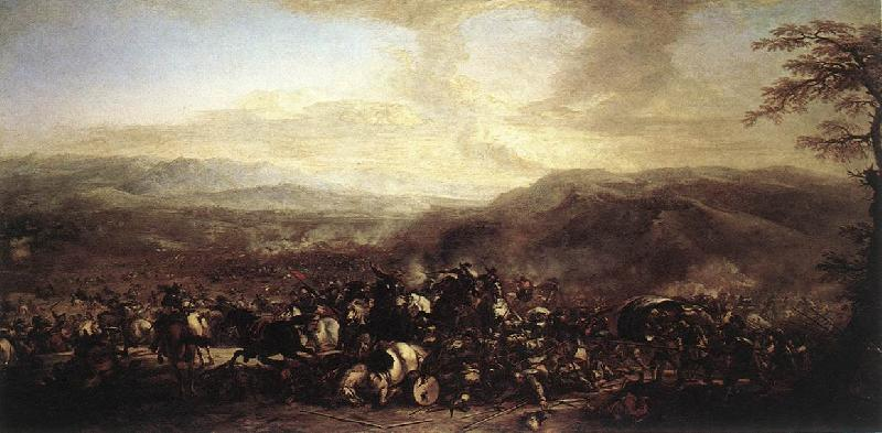 COURTOIS, Jacques The Battle of Mongiovino cg oil painting image