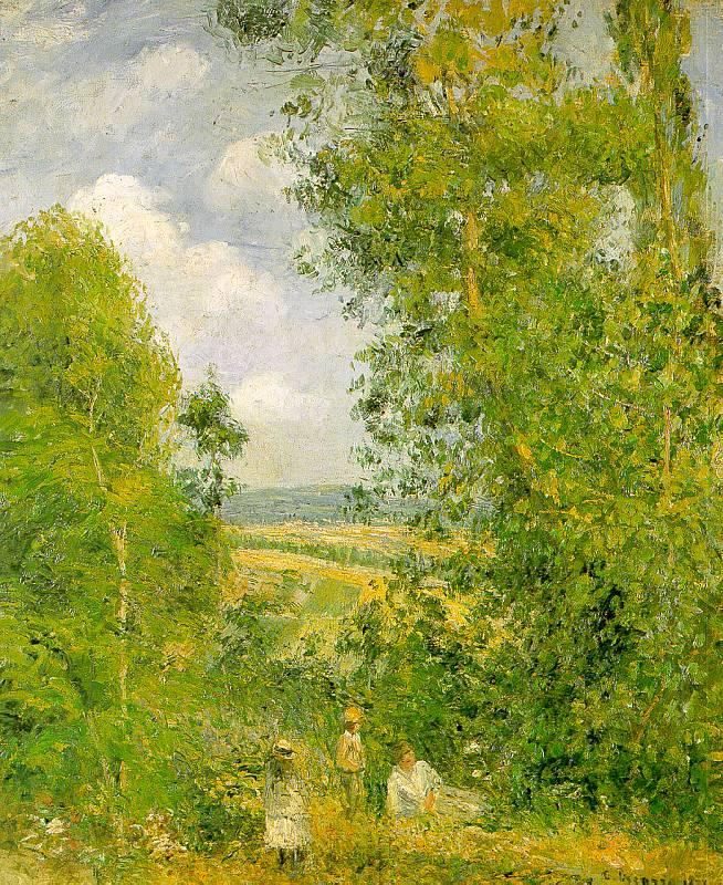 Camille Pissaro Resting in the Woods at Pontoise Germany oil painting art