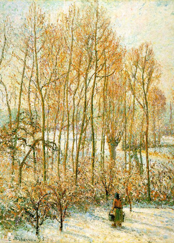 Camille Pissaro Morning Sunlight on the Snow, Eragny sur Epte oil painting image