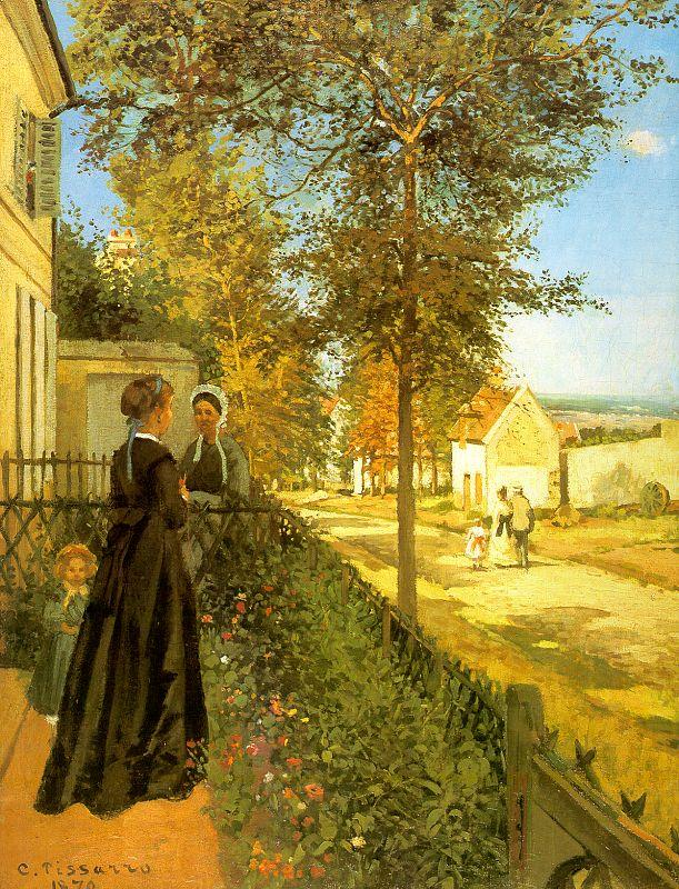 Camille Pissaro Louveciennes : The Road to Versailles oil painting image