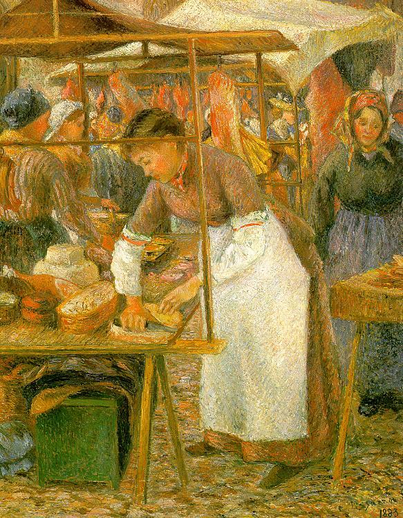 Camille Pissaro The Pork Butcher Germany oil painting art