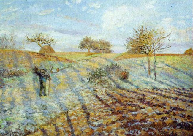 Camille Pissaro Hoarfrost Germany oil painting art