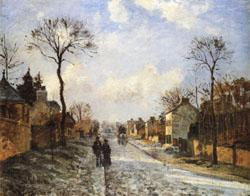 Camille Pissarro The Road to Louveciennes oil painting image