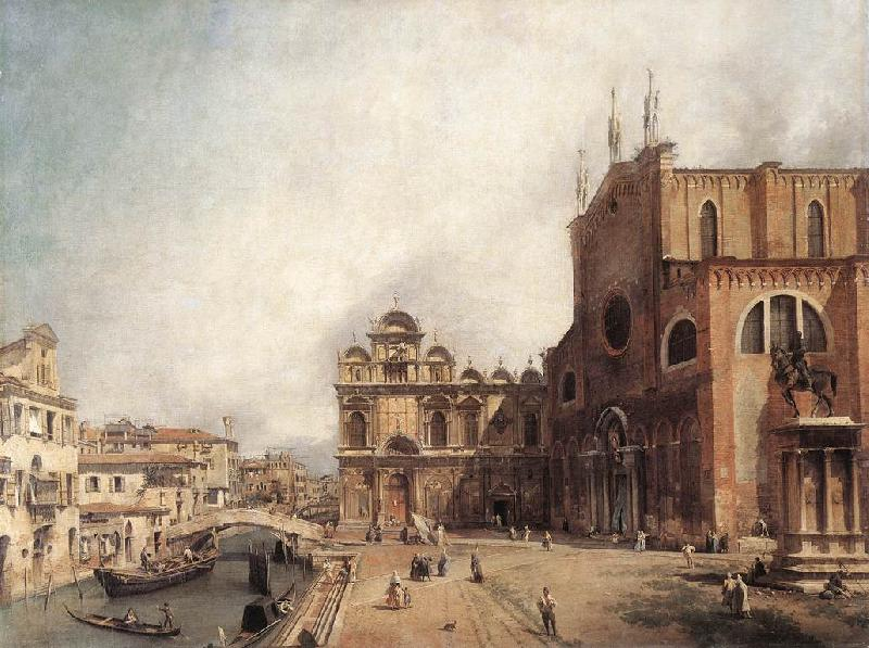 Canaletto Santi Giovanni e Paolo and the Scuola di San Marco fdg oil painting image