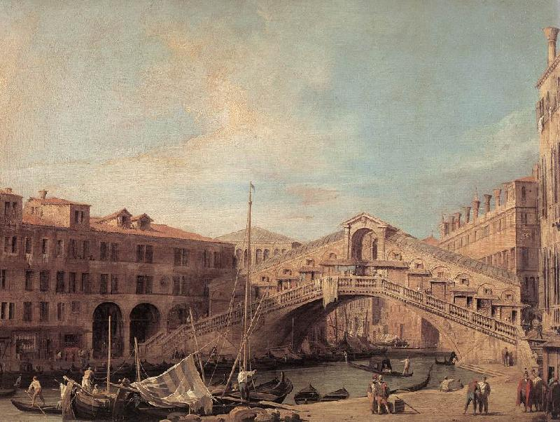 Canaletto Grand Canal: The Rialto Bridge from the South f oil painting image