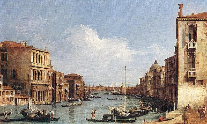 Canaletto The Grand Canal from Campo S. Vio towards the Bacino fdg oil painting image