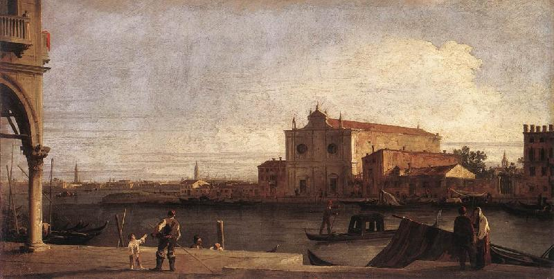Canaletto View of San Giovanni dei Battuti at Murano d oil painting image