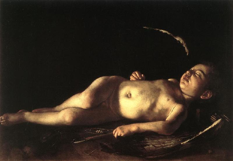 Caravaggio Sleeping Cupid gg Germany oil painting art