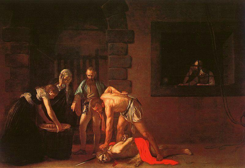 Caravaggio The Beheading of the Baptist oil painting image