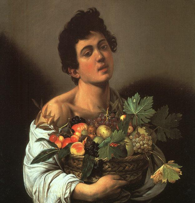 Caravaggio Youth with a Flower Basket oil painting image