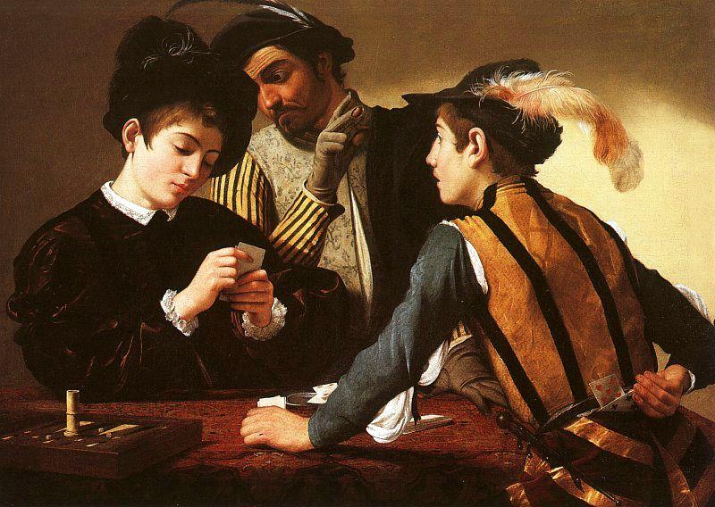 Caravaggio The Cardsharps oil painting image