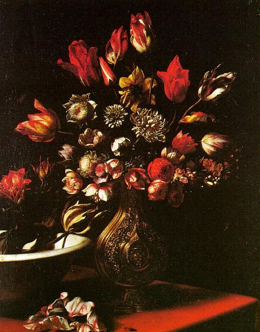 Carlo  Dolci Vase of Flowers oil painting image