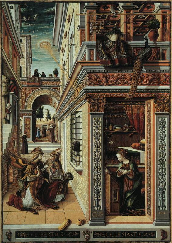 Carlo Crivelli Annunciation with Saint Emidius oil painting image