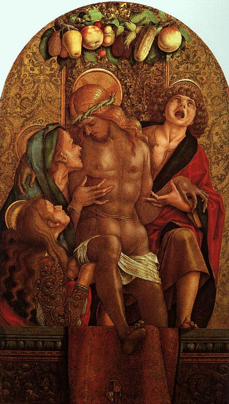 Carlo Crivelli Lamentation over the Dead Christ oil painting image