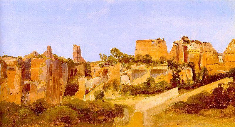 Charles Blechen The Ruins of the Septizonium on the Palatine in Rome oil painting image