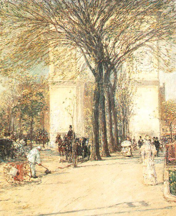 Childe Hassam Washington Arch in Spring Germany oil painting art