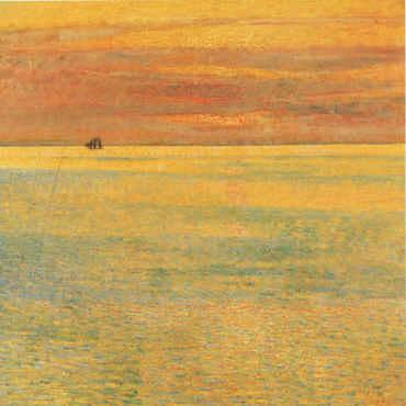 Childe Hassam Sunset at Sea Germany oil painting art