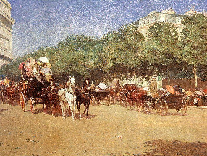 Childe Hassam Le Jour du Grand Prix Germany oil painting art