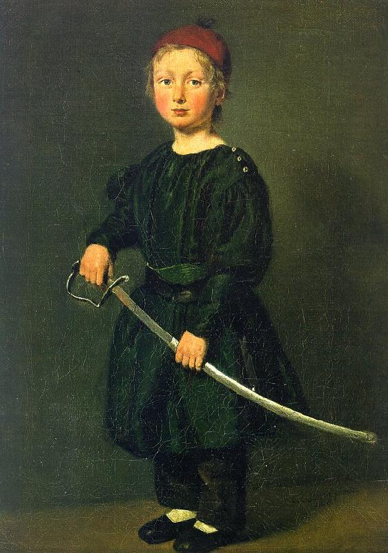 Christian Albrecht Jensen Portrait of a Boy : One of the Artist's Sons Germany oil painting art