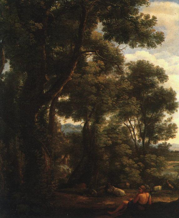 Claude Lorrain Landscape with Goatherd oil painting image