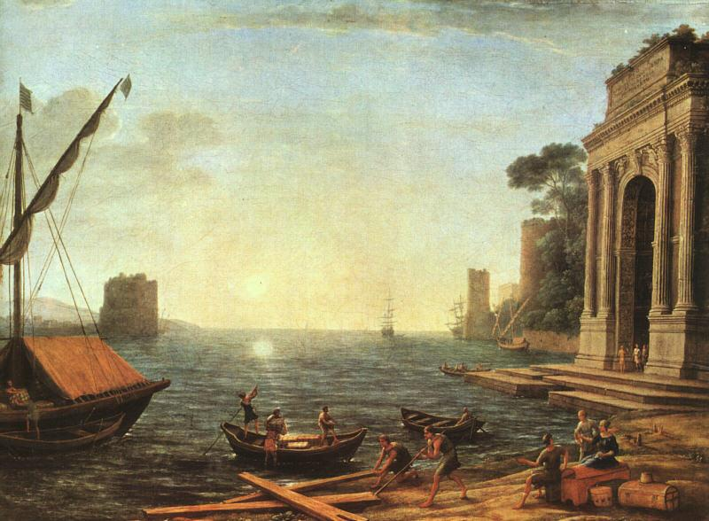 Claude Lorrain A Seaport oil painting image