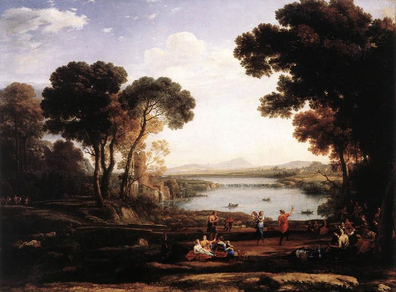 Claude Lorrain Landscape with Dancing Figures (The Mill) vg oil painting image