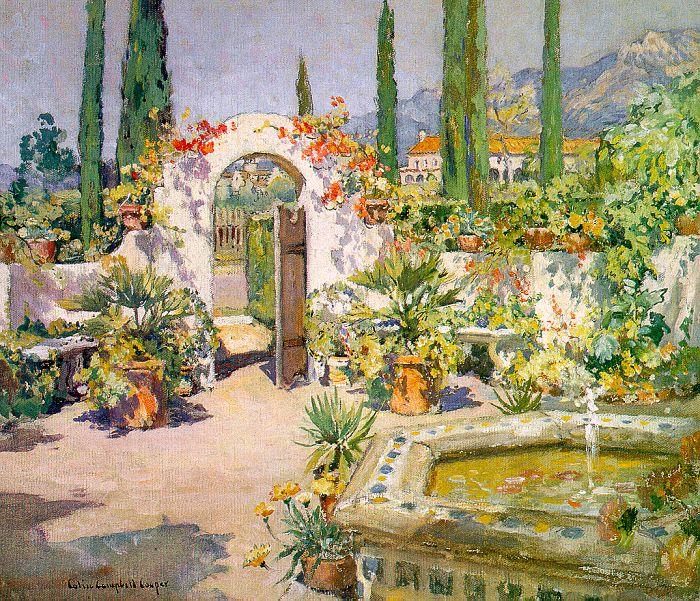Colin Campbell Cooper A Santa Barbara Courtyard oil painting image