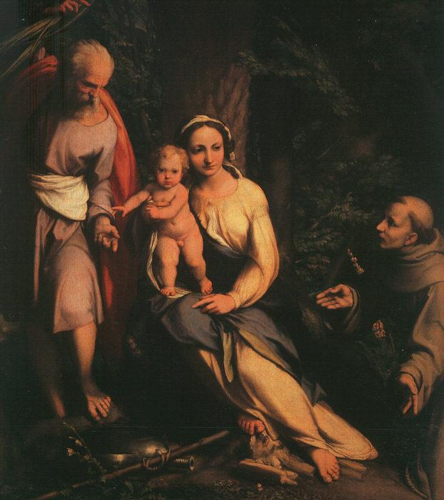 Correggio The Rest on the Flight to Egypt with Saint Francis oil painting image