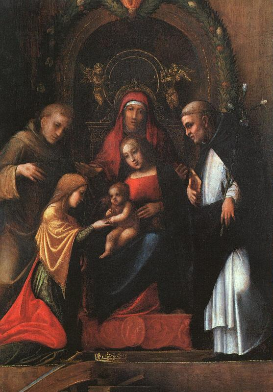 Correggio The Mystic Marriage of St.Catherine oil painting image