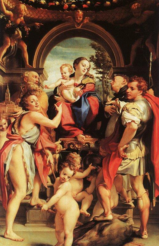 Correggio Madonna with St.George oil painting image