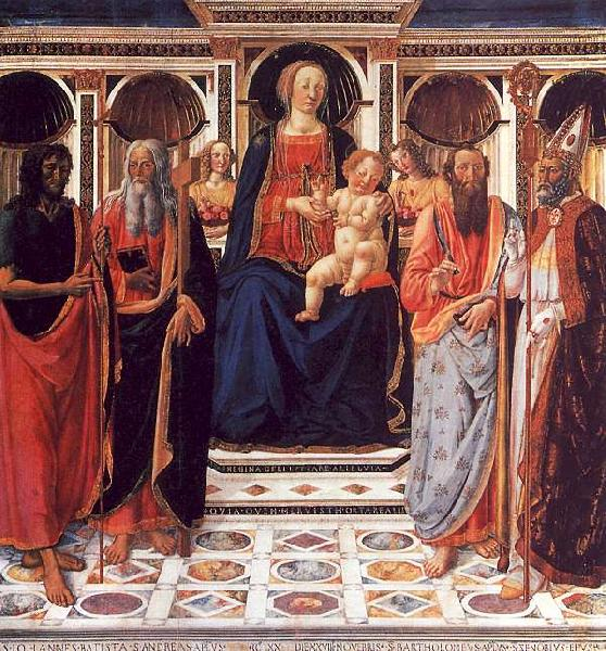 Cosimo Rosselli The Virgin and Child Enthroned with Saints Germany oil painting art