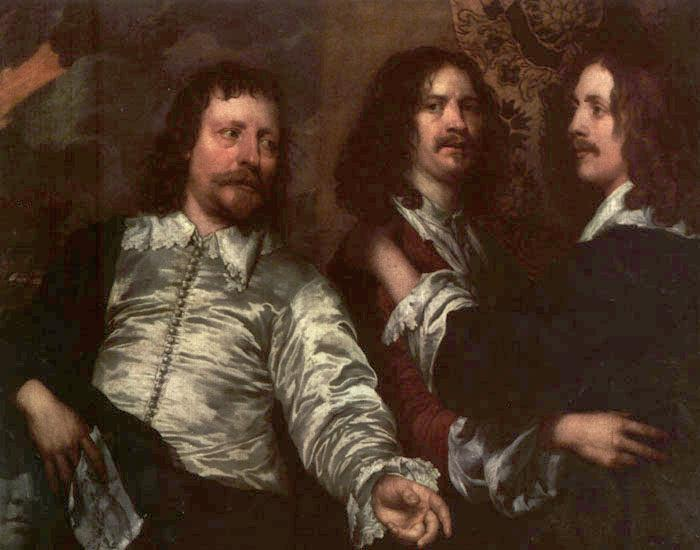 DOBSON, William The Painter with Sir Charles Cottrell and Sir Balthasar Gerbier dfg oil painting image