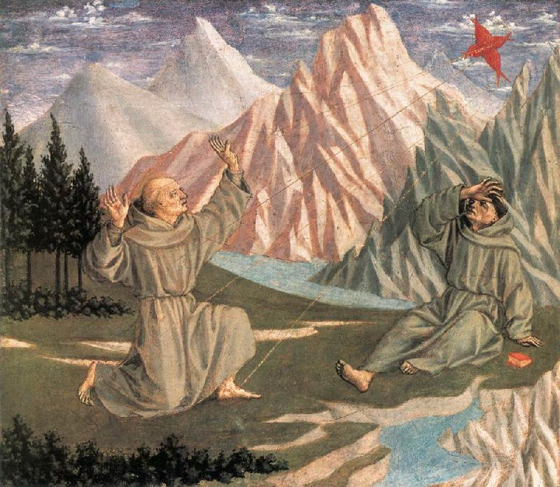 DOMENICO VENEZIANO The Stigmatization of St Francis (predella 1) df oil painting image