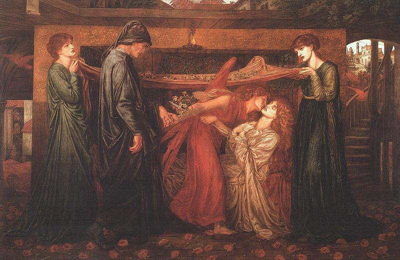 Dante Gabriel Rossetti Dante's Dream at the Time of the Death of Beatrice Germany oil painting art