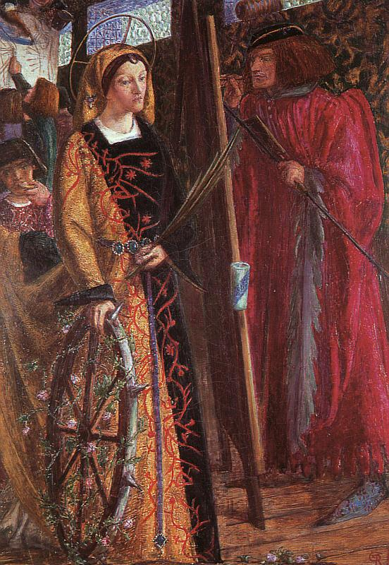 Dante Gabriel Rossetti Saint Catherine Germany oil painting art